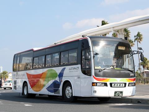 西鉄観光バス「桜島号」続行便 3173