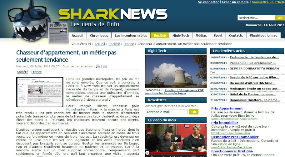 Homehunter - Paris sur Sharknews.fr