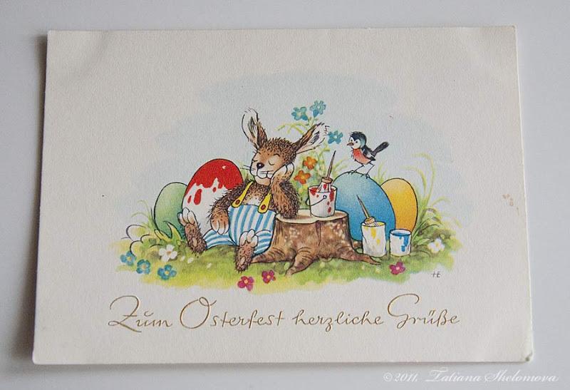 Пасхальные открытки по немецкому языку, марта