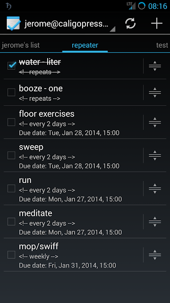 Google Tasks on Android