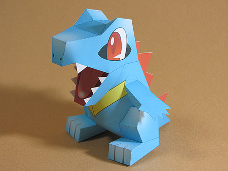 Totodile Paper Toy