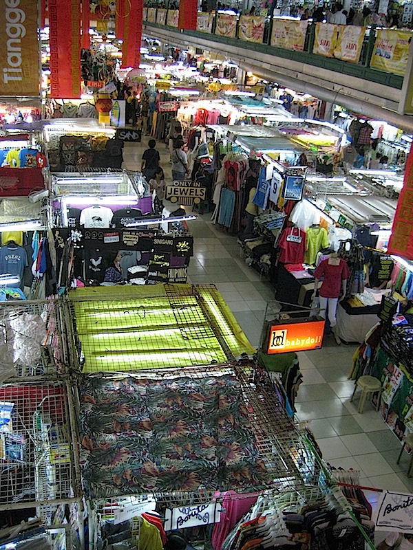 stalls at the Greenhills tiangge