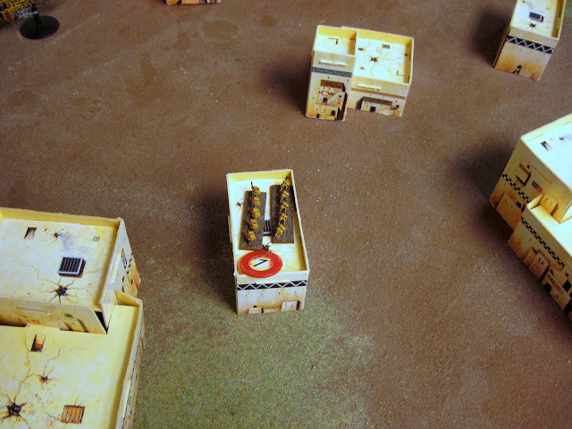A Manticore fails again and lays a BM on the Assault Marines.