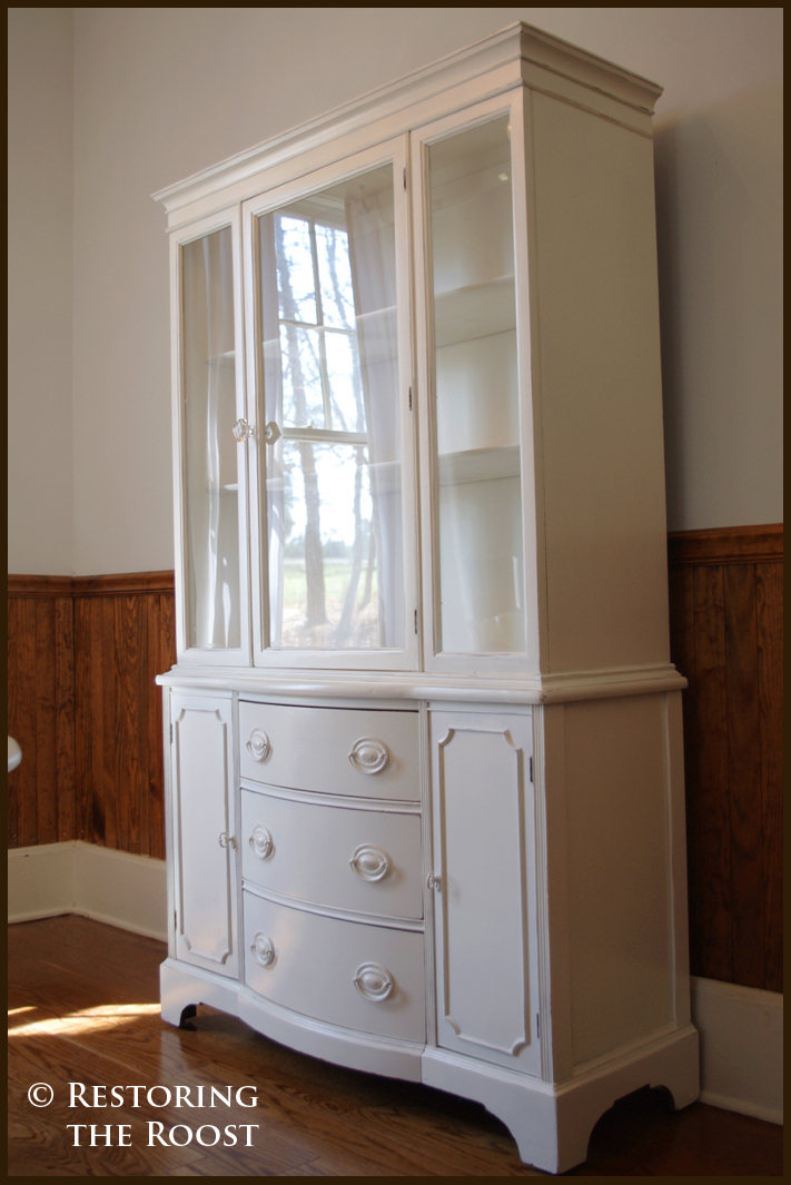 Restoring The Roost China Cabinet Find