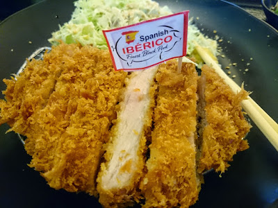 Enjoying a Spanish Iberico Tonkatsu set at Tonkatsu by Terazawa, Ayala Terraces, Cebu