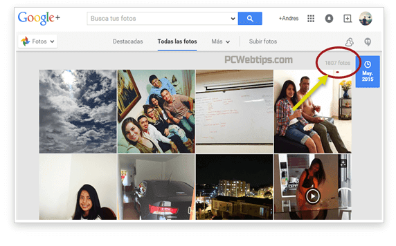 organizar fotos google+