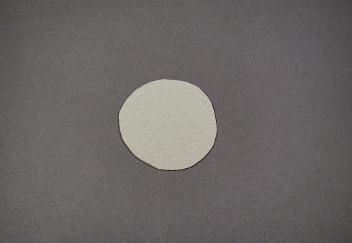 For the top, cut a circle out of chip board, anywhere from 1.5 inches to 5 inches.