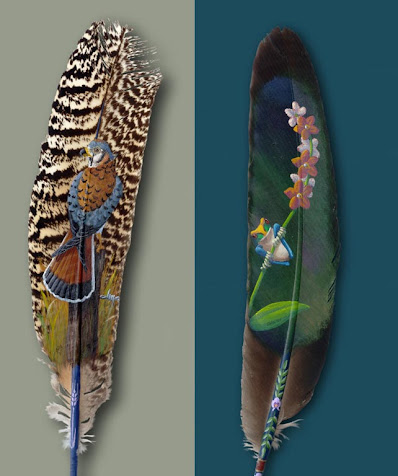Beautiful Feather Paintings