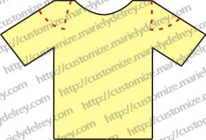 Customização - Corte de Camiseta