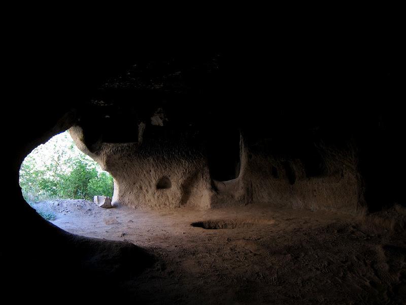 Inside a dwelling