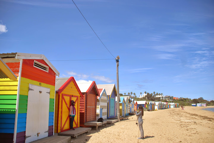 Rainbow Huts @Brighton Beach