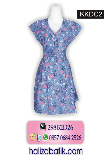KKDC2 Dress Modern, Baju Dress Batik, Model Batik, KKDC2