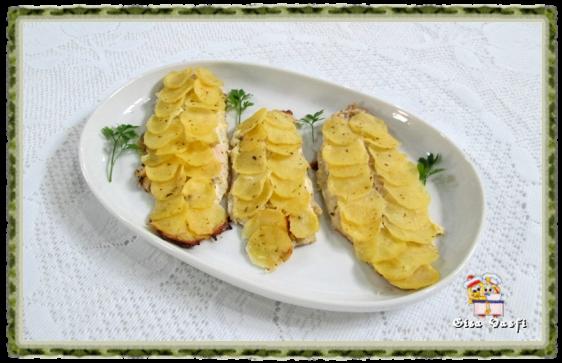 Peixe com escamas de batata 1