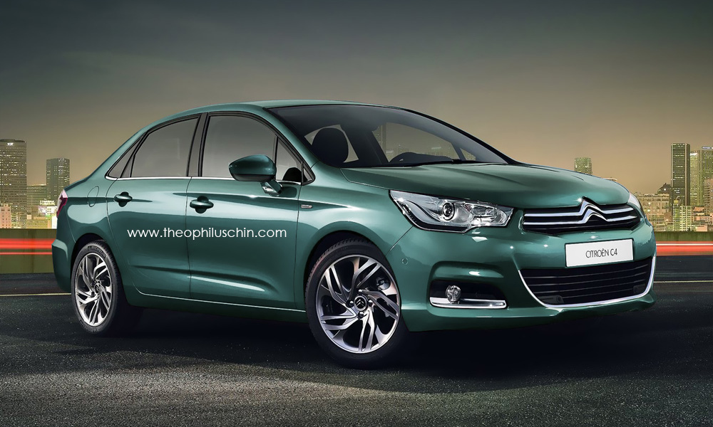 New citroen c4 sedan four doors garage car for Garage citroen c4