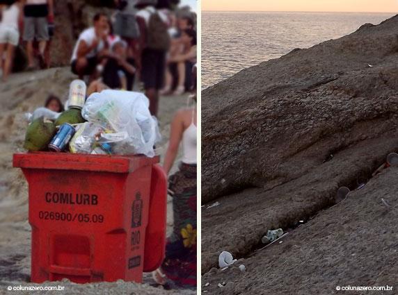 bruno rezende, coluna zero, fotografia, rio de janeiro, carnaval, poluicao, lixo, reciclagem, meio ambiente, arpoador
