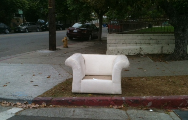 Abandoned sofa in Echo Park