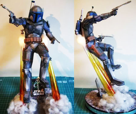 Star Wars Jetpack Jango Fett Papercraft