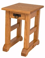 Merveilleux 24u2033 X 16u2033 Custom Trestle End Table In Honey Oak