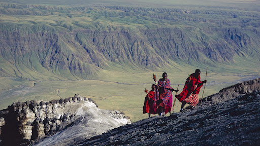 Masai Treking Oldonyo Lengai, The Mountain of God, Natron Region, Tanzania.jpg