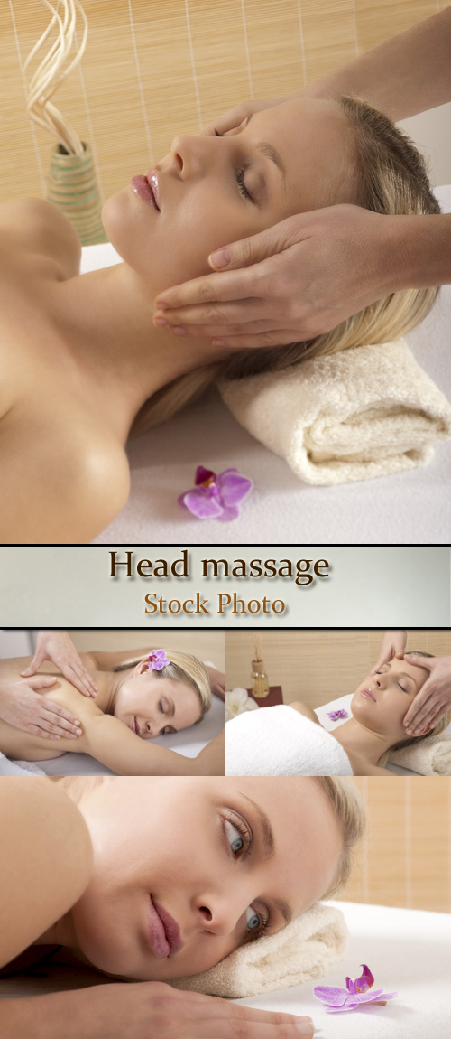 Stock Photo: Head massage 4