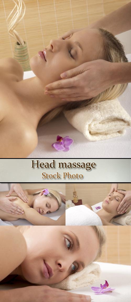 Stock Photo: Head massage