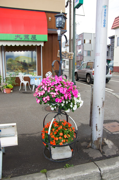 店先を飾る花