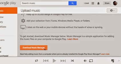 Instalar play music Manager