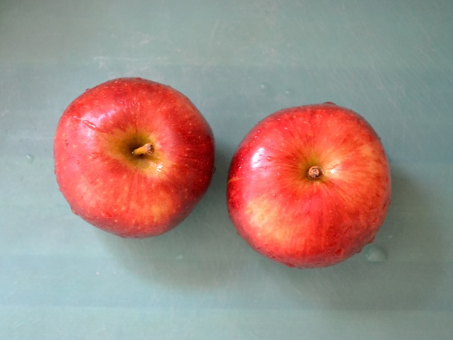Two whole apples