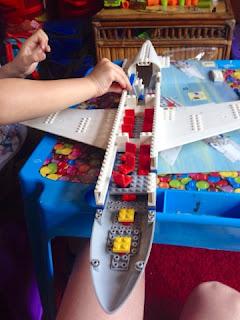 Lego plane - half built