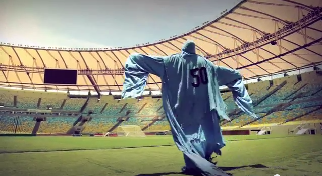 Brilliant new Puma ad: The Uruguay Phantom of 1950 is already in Brazil!