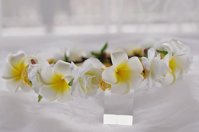 プルメリア 花冠 ウェディング ウエディング カチューシャ ヘッドドレス
