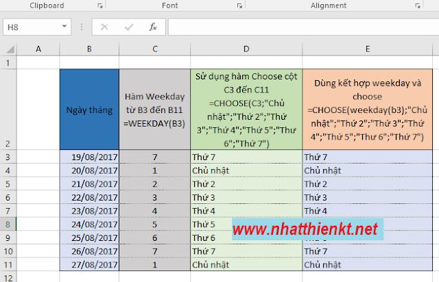 """Thủ thuật Excel - Xác định """"thứ"""" bất kỳ trong ngày tháng excel"""