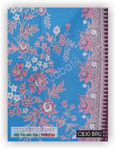 Jual Batik, Macam Batik, Contoh Desain Batik, CB30 BIRU