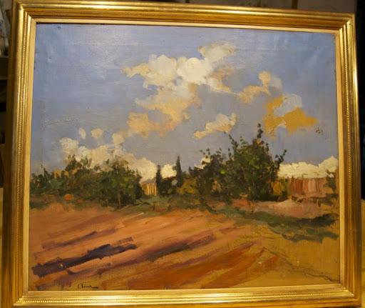 Casimiro SAINZ SAEZ Matamorosa 1853 - Madrid 1898. Paisaje Oleo sobre lienzo  60x71 cms e8c137c2ca1