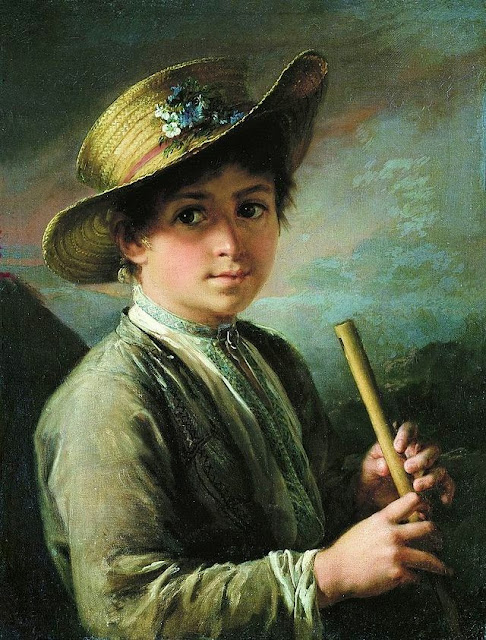 Vasily Tropinin - The boy with a flute