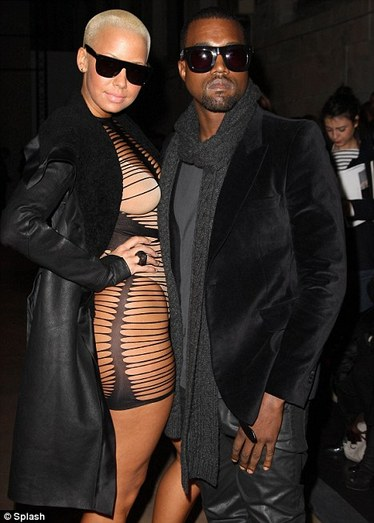 amber rose and kanye west pictures. amber rose kanye west.