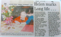 Helen Long, formally of Newton Road, Little Shelford, on her 100th birthday
