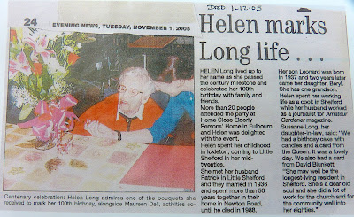 Helen Long, formally of Newton Road, Little Shelford, on her 100th birthday (13)