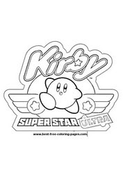 Kirby Super Star Coloring Page