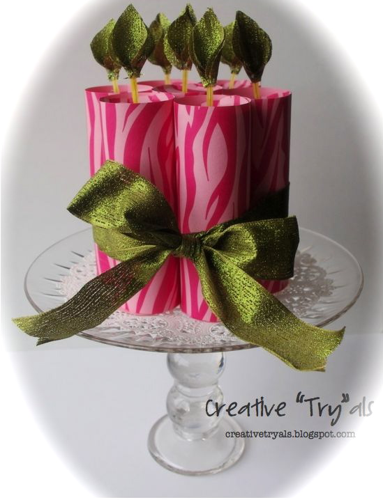 Creative Tryals Paper Birthday Cake With Homemade Cake Stand