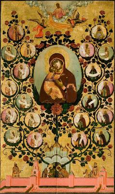 Икона Богоматерь Владимирская, или Древо Московского Царства