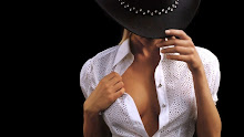 women cleavage models open blouse cowboy hats black background 1366x768 wallpaper