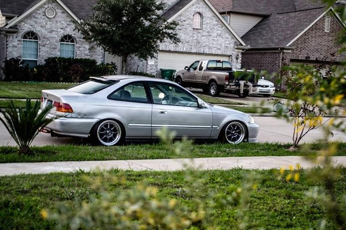 My 99 Civic Ex Offset Wheels On A Ek Civic