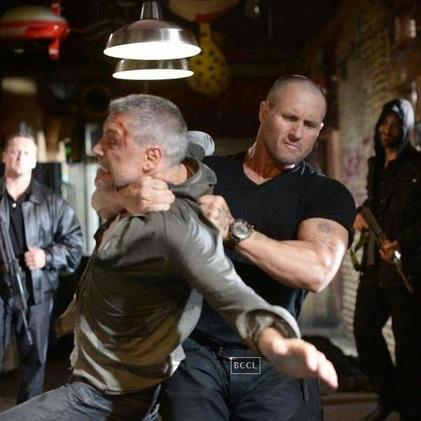 A still from the Hollywood action crime thriller Rage.