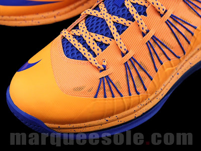 nike lebron 10 low gr orange blue 1 06 First Look at Nike LeBron X Low   Cavs Hardwood Classic?!