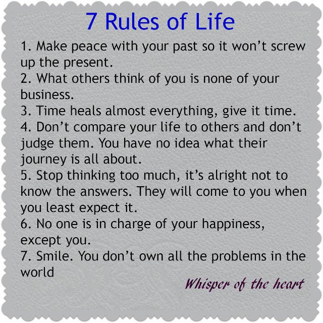 Wallpapers Quotes And Fun 60 Rules Of Life Adorable 7 Rules Of Life Quote