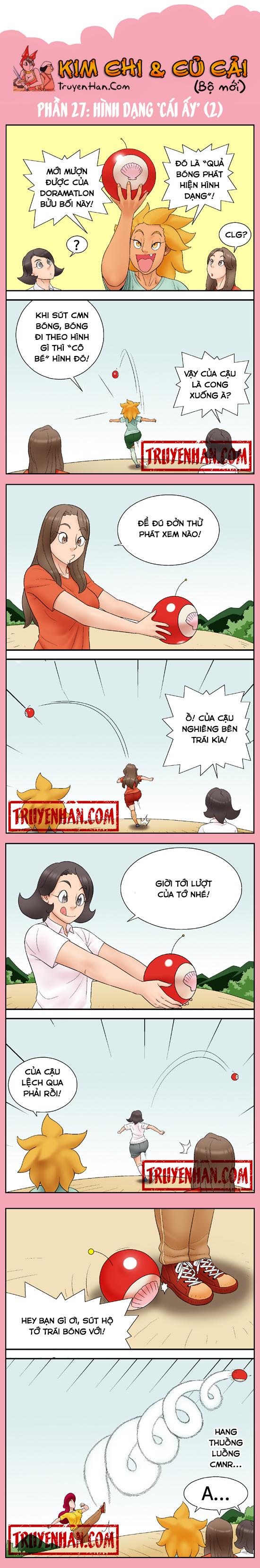 """Kim Chi & Củ Cải (bộ mới) phần 27: Hình dạng """"cái ấy"""" (2)"""