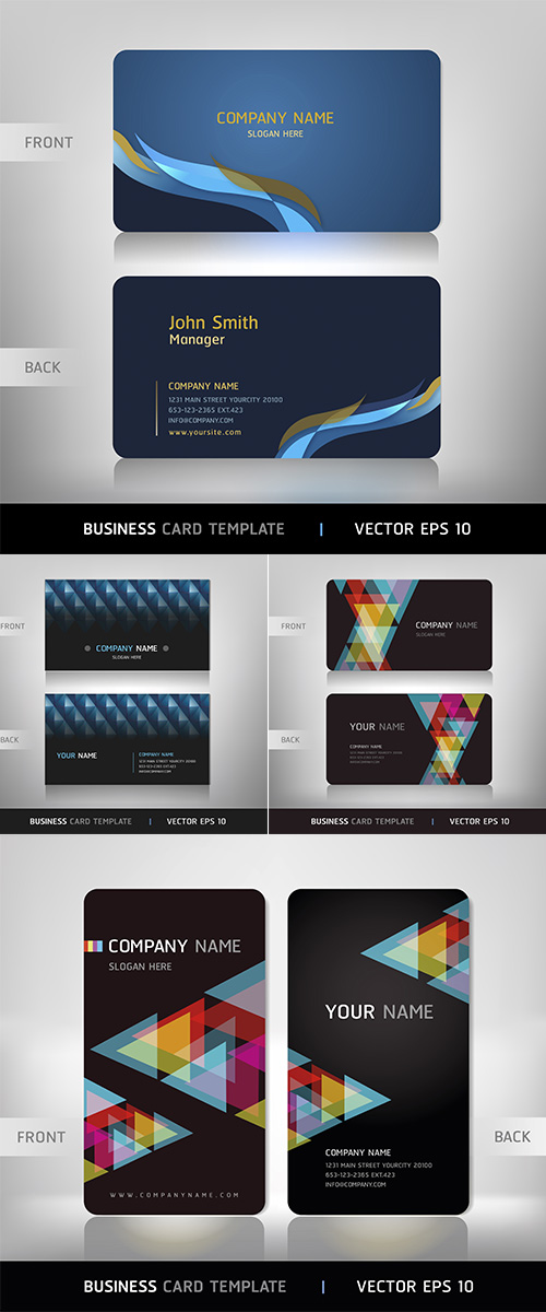 Stock: Business card abstract background 5