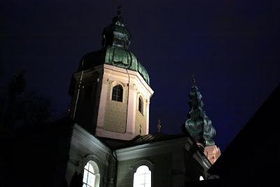Church at night in Salzburg