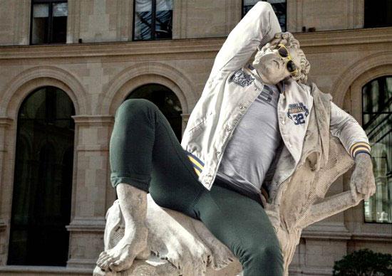 Obras maestras de la escultura con look hipster 5